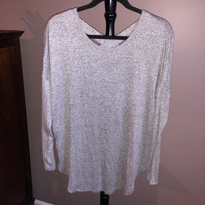 Sweater with Crisscross Back